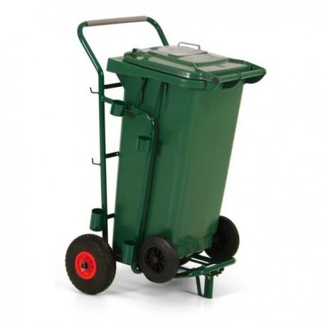 Chariot de voierie avec container